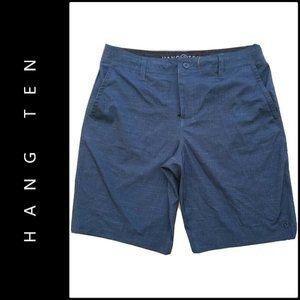 Hang Ten Men Flat Front  Shorts Gray Size 34